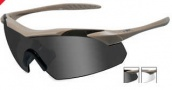 Wiley X WX Vapor Sunglasses Sunglasses - 3511 Tan / Smoke Grey, Clear