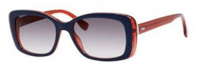 Fendi 0002/S Sunglasses Sunglasses - 07PP Blue Red (9C dark gray gradient lens)
