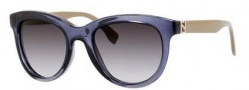 Fendi 0006/S Sunglasses Sunglasses - 07RB Blue Gray Mud (9O dark gray gradient lens)