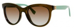Fendi 0006/S Sunglasses Sunglasses - 07RC Green (IF brown gradient azure lens)