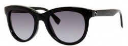 Fendi 0006/S Sunglasses Sunglasses - 0D28 Shiny Black (HD gray gradient lens)