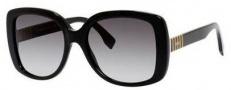 Fendi 0014/S Sunglasses Sunglasses - 07SY Black (9O dark gray gradient lens)