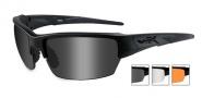 Wiley X WX Saint Sunglasses Sunglasses - CHSAI06 Matte Black / Grey, Clear, Rust