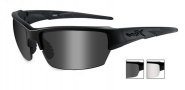 Wiley X WX Saint Sunglasses Sunglasses - CHSAI07 Matte Black / Grey, Clear