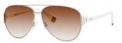 Fendi 0018/S Sunglasses Sunglasses - 07SG Light Gold Semi Matte (QH brown mirror gold shaded lens)