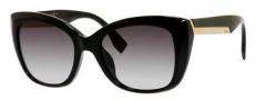 Fendi 0019/S Sunglasses Sunglasses - 0D28 Shiny Black (9O dark gray gradient lens)