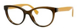 Fendi 0008 Eyeglasses Eyeglasses - 07QQ Transparent Brown