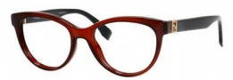 Fendi 0008 Eyeglasses Eyeglasses - 07RK Transparent Red Blue