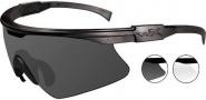 Wiley X WX PT-1 Sunglasses Sunglasses - PT-1SC Matte Black / Grey, Clear