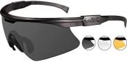 Wiley X WX PT-1 Sunglasses Sunglasses - PT-1SCL Matte Black / Grey, Clear, Light Rust