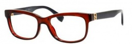 Fendi 0009 Eyeglasses Eyeglasses - 07RK Transparent Red Blue