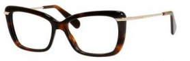 Marc Jacobs 544 Eyeglasses Eyeglasses - 08NQ Dark Havana Gold