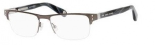 Marc Jacobs 518 Eyeglasses Eyeglasses - 00OS Dark Ruthenium / Gray Horn