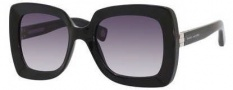 Marc Jacobs 486/S Sunglasses Sunglasses - 0CLB Shiny Black (9C dark gray gradient lens)