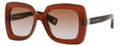 Marc Jacobs 486/S Sunglasses Sunglasses - 08JQ Transparent Brown (81 brown gray gradient lens)