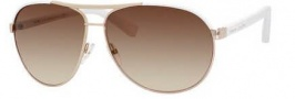 Marc Jacobs 475/S Sunglasses Sunglasses - 0550 Gold / White (BA brown gradient lens)