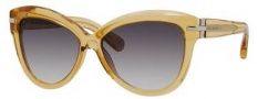 Marc Jacobs 468/S Sunglasses Sunglasses - 0521 Transparent Ochre (BD dark gray gradient lens)
