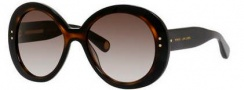 Marc Jacobs 430/S Sunglasses Sunglasses - 038W Black / Havana (HA brown gradient lens)