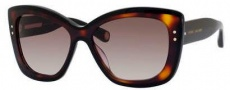 Marc Jacobs 429/S Sunglasses Sunglasses - 038W Black / Havana (HA brown gradient lens)