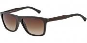 Emporio Armani EA4001 Sunglasses Sunglasses - 506413 Brown Rubber / Brown Gradient