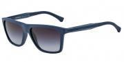 Emporio Armani EA4001 Sunglasses Sunglasses - 50658G Blue Rubber / Grey Gradient