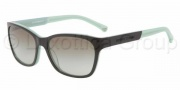 Emporio Armani EA4004 Sunglasses Sunglasses - 50458E Black / Aqua Green / Green Gradient