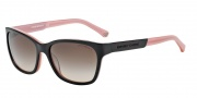 Emporio Armani EA4004 Sunglasses Sunglasses - 504613 Black / Opal Pink / Brown Gradient