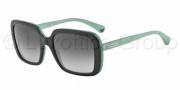 Emporio Armani EA4007 Sunglasses Sunglasses - 50458G Black Aqua Green / Grey Gradient