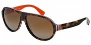 Dolce & Gabbana DG4204 Sunglasses Sunglasses - 2765T5 Havana / Multilayer / Orange / Polarized Brown Gradient Lens
