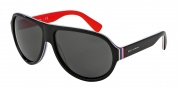Dolce & Gabbana DG4204 Sunglasses Sunglasses - 276487 Black / Multilayer / Red / Grey Lens