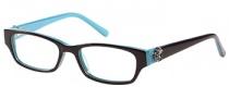 Candies C Riley Eyeglasses Eyeglasses - BRN Brown / Teal