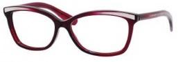 Bottega Veneta 173 Eyeglasses Eyeglasses - 0PKN Crystal Dark Burgundy