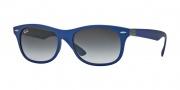 Ray Ban RB4207 Sunglasses Sunglasses - 60158G Matte Blue / Grey Gradient Dark Grey