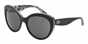 Dolce & Gabbana DG4236 Sunglasses Sunglasses - 284087 Black / Black Peach Flowers / Grey