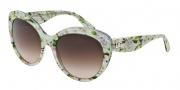 Dolce & Gabbana DG4236 Sunglasses Sunglasses - 284313 Aqua Peach Flowers / Brown Gradient