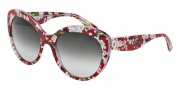 Dolce & Gabbana DG4236 Sunglasses Sunglasses - 28458G Red Peach Flowers / Grey Gradient
