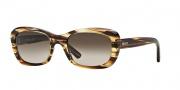 DKNY DY4118 Sunglasses Sunglasses - 365013 Striped Honey / Brown Gradient