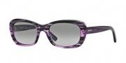DKNY DY4118 Sunglasses Sunglasses - 365111 Striped Violet / Grey Gradient