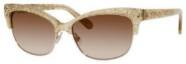 Kate Spade Shira/S Sunglasses Sunglasses - 0W51 Gold Glitter (BO brown shaded gold flash lens)
