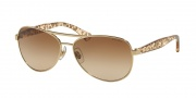 Ralph by Ralph Lauren RA4108 Sunglasses Sunglasses - 101/13 Light Gold / Brown Gradient