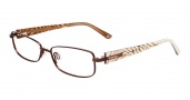 Bebe BB5056 Eyeglasses Glitters Eyeglasses - Topaz Brown