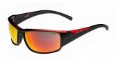 Bolle Keelback Sunglasses Sunglasses - 11906 Shiny Black / Red Translucent / TNS Fire