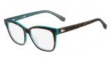 Lacoste L2723 Eyeglasses Eyeglasses - 220 Green Havana / Azure