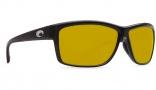 Costa Del Mar Mag Bay Sunglasses Shiny Black Frame Sunglasses - Sunrise Yellow Plastic / 580P