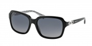 Coach HC8104 Sunglasses Ashley Sunglasses - 5214T3 Black / Grey Gradient Polarized
