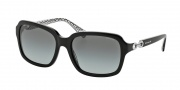 Coach HC8104 Sunglasses Ashley Sunglasses - 521411 Black / Grey Gradient