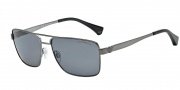 Emporio Armani EA2019 Sunglasses Sunglasses - 300381 Matte Gunmetal / Polarized Grey