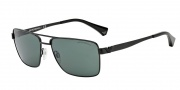 Emporio Armani EA2019 Sunglasses Sunglasses - 300171 Matte Black / Grey Green