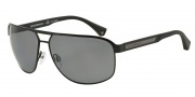 Emporio Armani EA2025 Sunglasses Sunglasses - 300181 Matte Black / Polarized Grey
