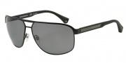 Emporio Armani EA2025 Sunglasses Sunglasses - 300181 Matte Black / Polarized Grey